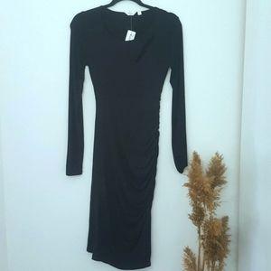 🆕️ Thyme Maternity Long Sleeve Black Dress XXS